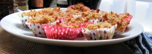 ...apple and cinnamon delight mini muffins all ready for the picnic