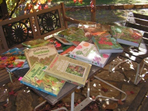 a selection of my books... and these are just the veggie ones!