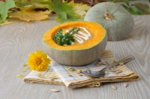 ...some scrumptious looking pumpkin soup (image courtesy of Apolonia at FreeDigitalPhotos.net)