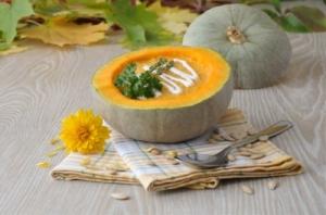 ...some scrumptious looking pumpkin soup (image courtesy of Apolonia at FreeDigitalPhotos.net)